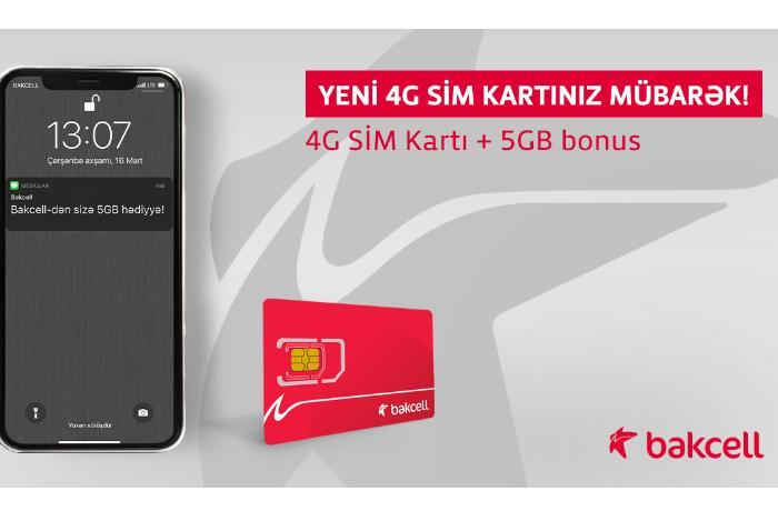 """""""Bakcell""""in 4G şəbəkəsinə keç və 5 GB İnternet hədiyyə al!"""
