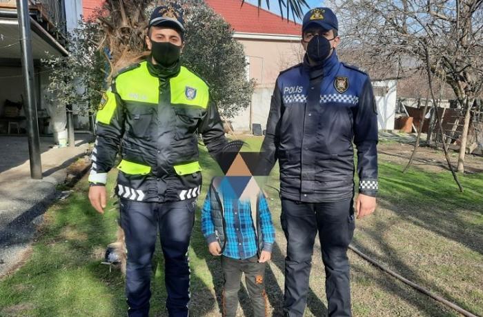 Polislər itkin düşən azyaşlını tapdılar — FOTO