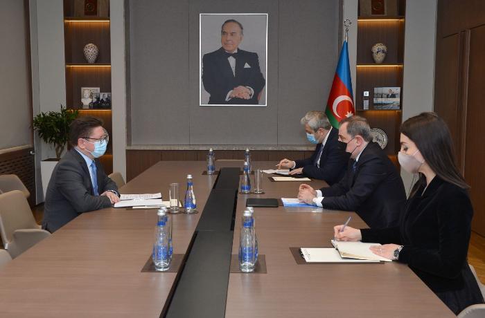 Ceyhun Bayramov Avropa Şurasının Bakı ofisinin rəhbəri ilə görüşdü — FOTO