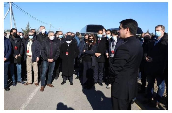 """Xarici diplomatlar """"Güləbird"""" Su Elektrik Stansiyası ilə tanış olublar"""
