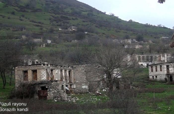 Füzulinin Gorazıllı kəndindən görüntülər — VİDEO