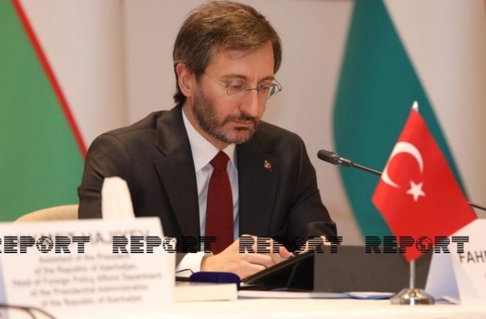 """Fahrettin Altun: """"Buradan bir daha böyük qürurla """"Qarabağ Azərbaycandır"""" deyirəm"""""""