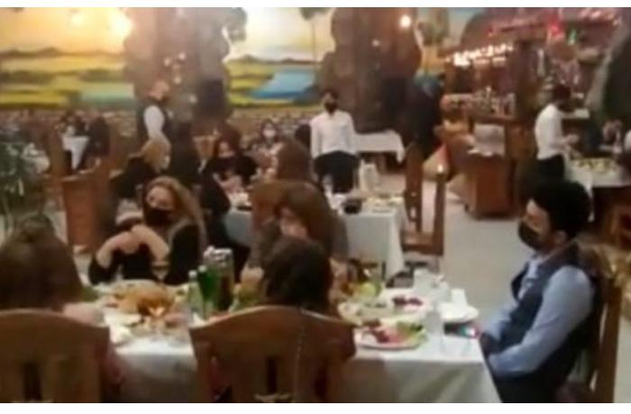 Bakıda restoranda toy edən 40 nəfər cərimələndi