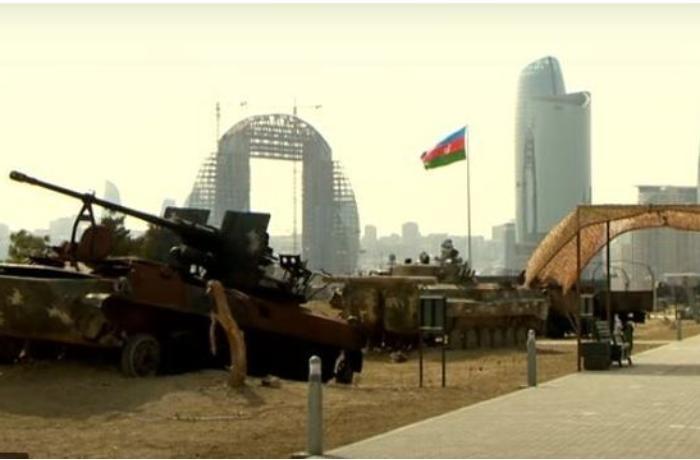 Vətən müharibəsini göz önündə canlandıran Hərbi Qənimətlər Parkı — VİDEO