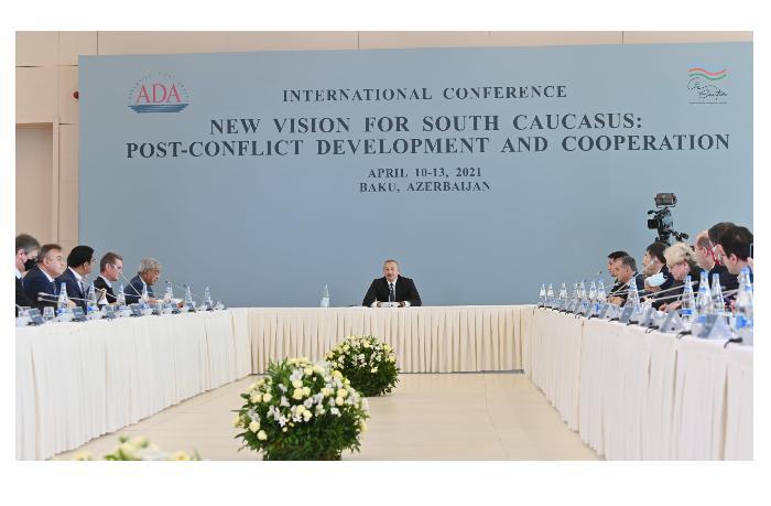 İlham Əliyevin beynəlxalq konfransdakı çıxışı 100-dən çox xarici media orqanında