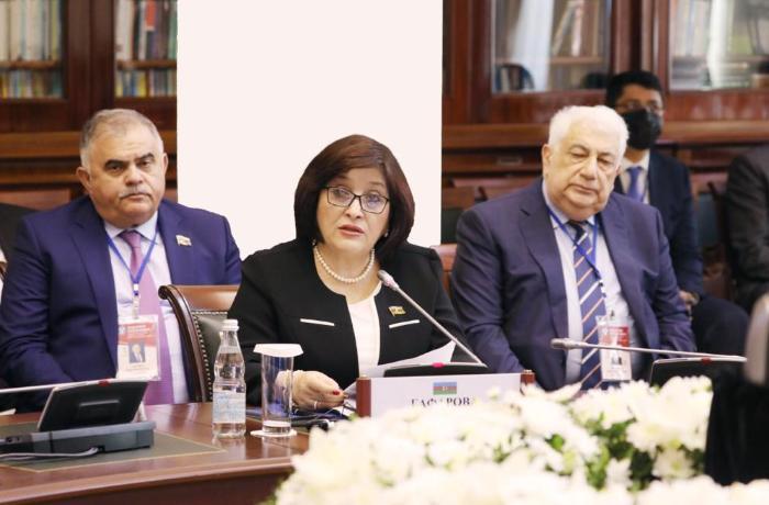 Sahibə Qafarova MDB PA-nın plenar iclasında çıxış etdi