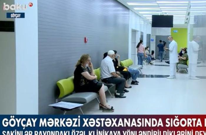 Göyçay Rayon Mərkəzi Xəstəxanasında sığorta problemi — VİDEO