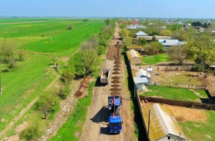 Xocavəndə avtomobil yolunun inşası son mərhələdədir — FOTOLAR