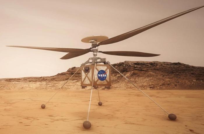 Marsda ilk tarixi uçuş oldu