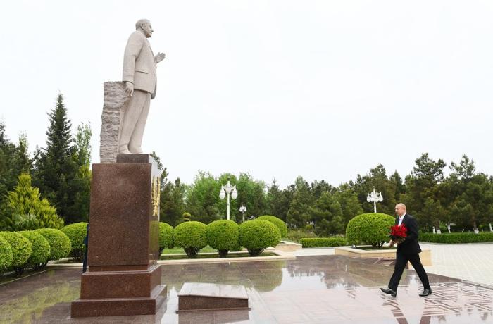 Prezident Hacıqabul rayonuna səfərə getdi