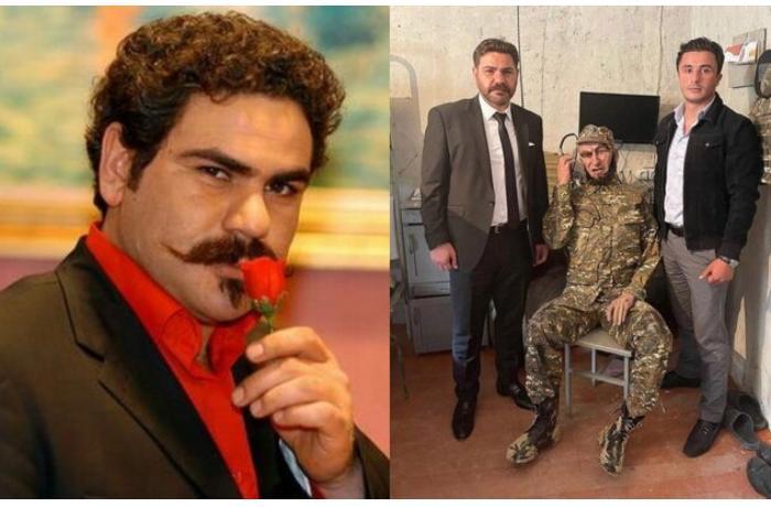 """""""Kurtlar vadisi""""nin aktyoru Hərbi Qənimətlər Parkında — FOTO"""