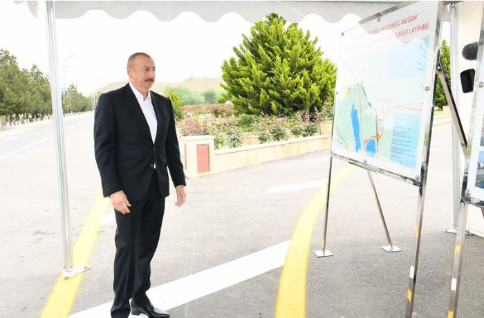 Hacıqabul-Muğan avtomobil yolu yenidənqurmadan sonra istifadəyə verildi — FOTOLAR