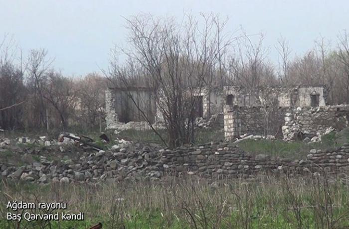 Ağdamın Baş Qərvənd kəndinin görüntüləri — VİDEO