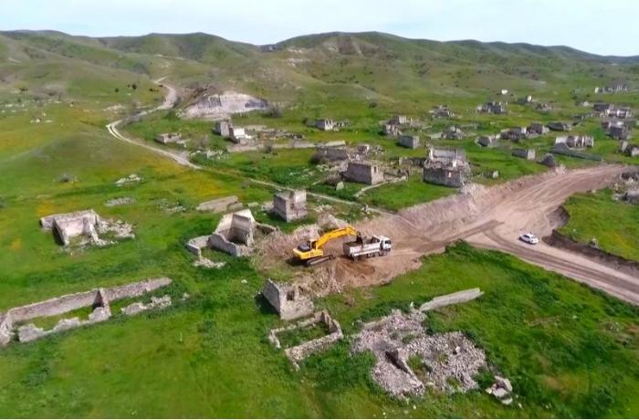 Xudafərin-Qubadlı-Laçın avtomobil yolunun tikintisinə başlanıldı — FOTOLAR