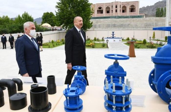 Ölkə başçısı Ordubadın su təchizatı layihəsinin açılışında — YENİLƏNİB
