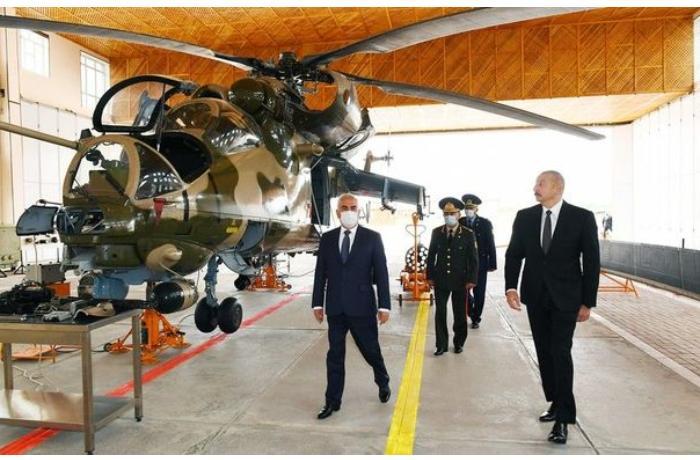 İlham Əliyev Naxçıvanda hərbi aerodromun açılışında iştirak etdi — YENİLƏNİB