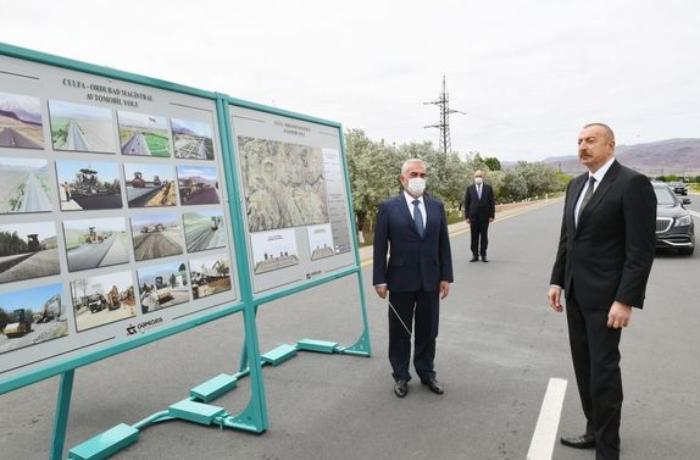 Prezident Culfa-Ordubad magistral avtomobil yolunun açılışında — YENİLƏNİB