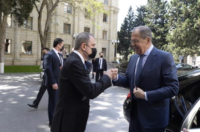 Ceyhun Bayramov və Lavrovun görüşünün təfərrüatı açıqlandı — FOTOLAR