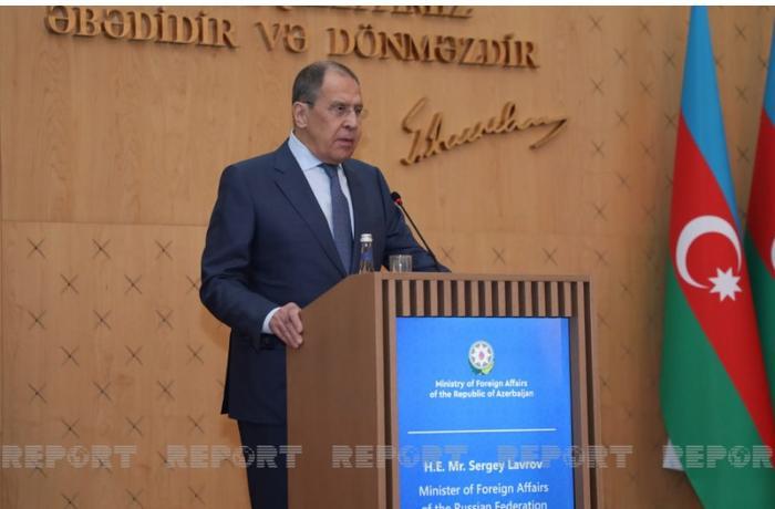 """Lavrov: """"Minalanmış ərazilərin xəritələrinin verilməsi Yerevanda müzakirə edilib"""""""