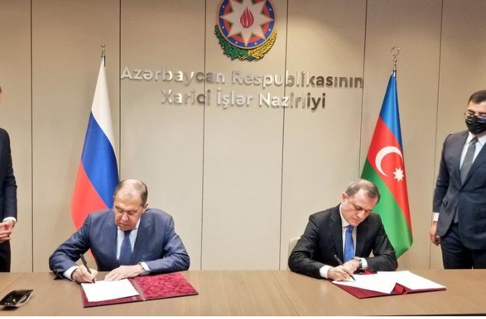 Azərbaycan və Rusiya XİN-ləri arasında 2021-2022-ci illər üçün məsləhətləşmələr Planı imzalandı