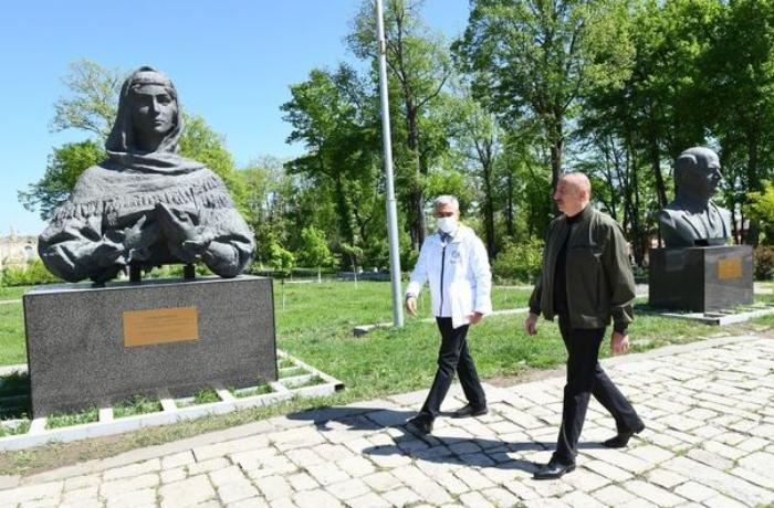 Dövlət başçısı Şuşada Xüsusi nümayəndəliyin inzibati binası ilə tanış oldu