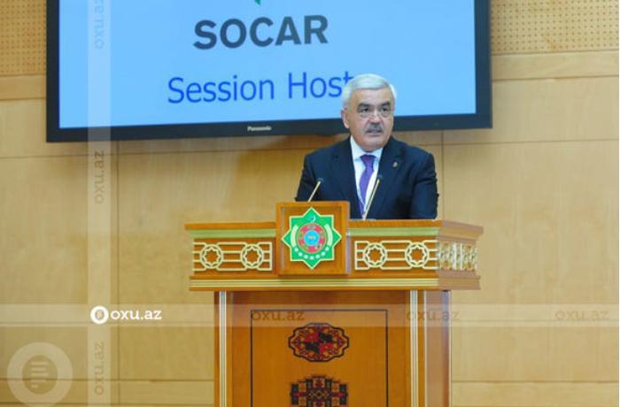 SOCAR prezidenti Türkmənistanda keçirilən beynəlxalq forumda çıxış etdi — FOTOLAR