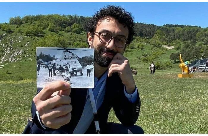 Cıdır düzündə 29 il əvvəlki şəkli ilə foto çəkdirdi — FOTO