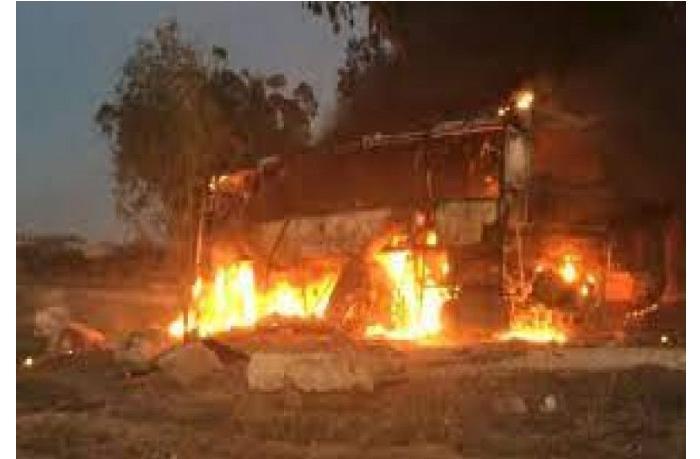"""""""Həma""""ın İsrailə atdığı 130 raket zərbəsi nəticəsində bir avtobus partladı — Yaralılar var"""