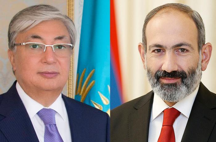 Paşinyan Qazaxıstan prezidenti ilə Zəngəzurdakı vəziyyəti müzakirə etdi