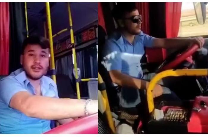 """Bakıda marşrut sürücüsü özünü və sərnişinləri çəkib """"TikTok""""a yüklədi — VİDEO"""