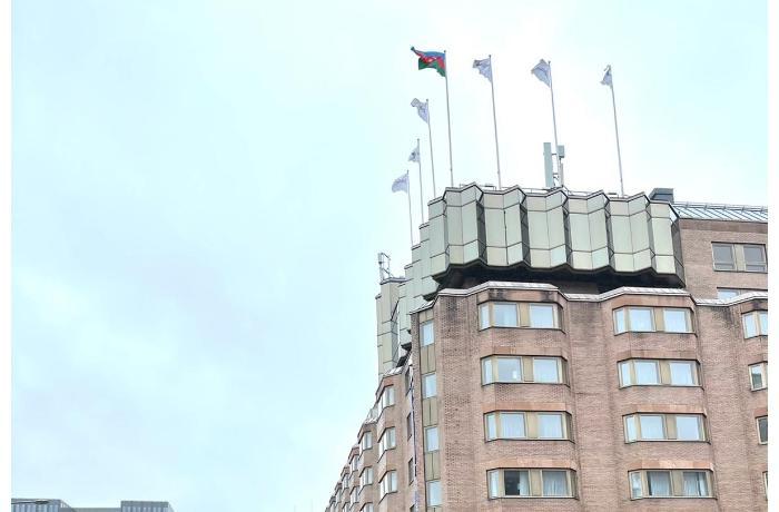 Stokholmda Azərbaycan bayrağı ucaldıldı — FOTO