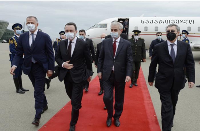 Gürcüstanın baş naziri Azərbaycana gəldi