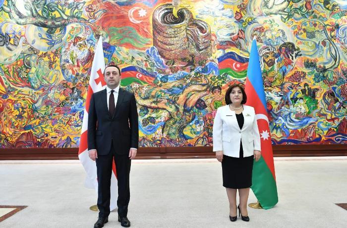 Sahibə Qafarova Gürcüstanın Baş naziri ilə görüşdü — FOTO