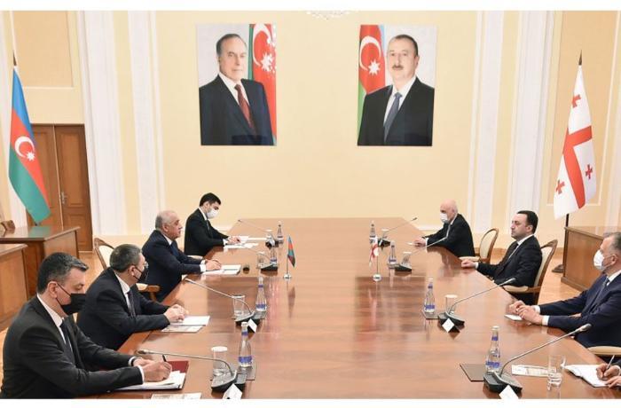 Azərbaycan Gürcüstan baş nazirləri görüşdü