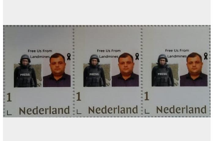 Niderlandda şəhid jurnalistlərin xatirəsinə poçt markası buraxıldı