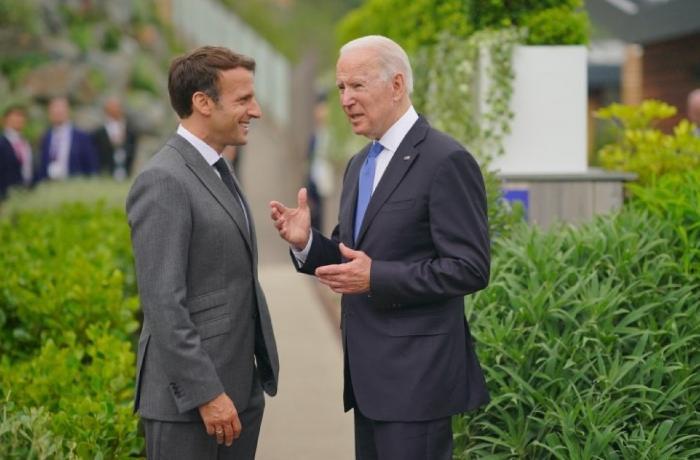 Bayden və Makron G7 çərçivəsində Rusiya və Çini müzakirə etdilər