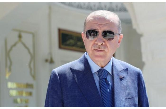 """Ərdoğana """"Zəfər"""" adlı Qarabağ atı hədiyyə edildi"""