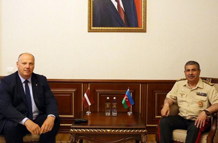 Zakir Həsənov Latviyanın NATO PA-dakı nümayəndə heyətinin üzvü ilə görüşdü