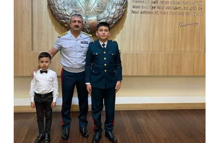 Elçin Quliyev mərhum jurnalistin övladları ilə görüşdü — FOTO