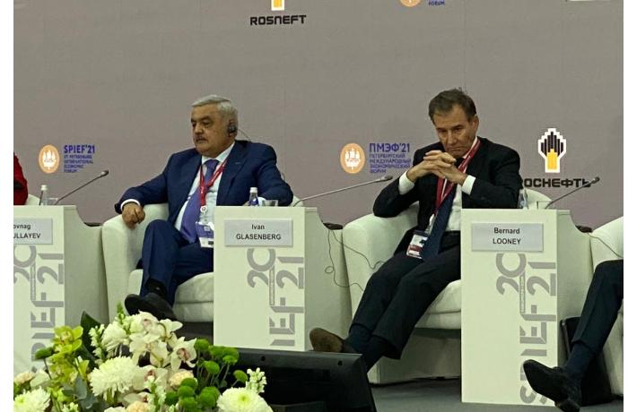 Rövnəq Abdullayev Sankt-Peterburq beynəlxalq iqtisadi forumunda çıxış etdi — FOTOLAR
