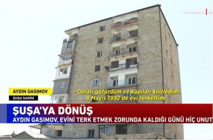 """""""Haber Global"""": 28 il sonra Şuşadakı doğma evinə qayıdan sakinin tapdığı yeganə əşya — VİDEO"""