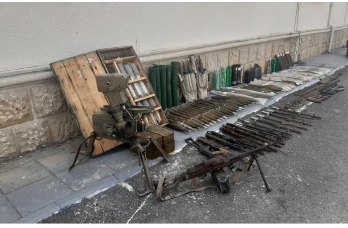 Füzulidə xeyli sayda silah-sursat aşkarlandı