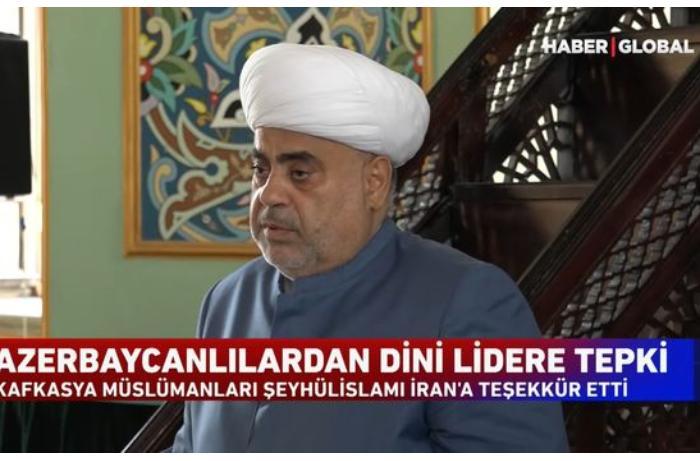 """""""Haber Global"""": """"Azərbaycan dini liderinin absurd açıqlamasına reaksiyalar artmaqda davam edir"""" — VİDEO"""