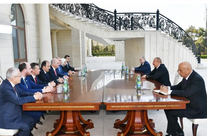 İlham Əliyev AKP sədrinin birinci müavinini qəbul etdi
