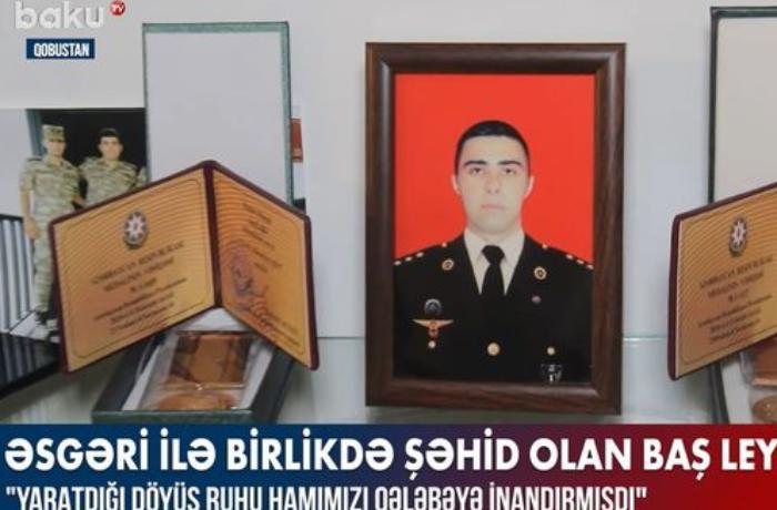 Əsgəri ilə birlikdə şəhid olan baş leytenant Murad İbadov — VİDEO