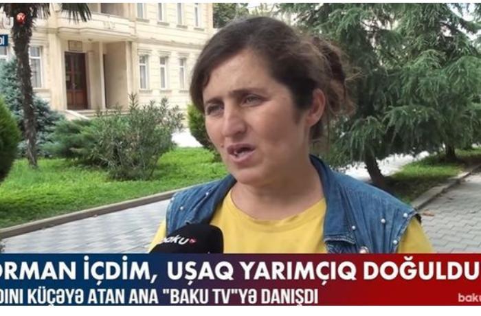 """Övladını küçəyə atan ana """"Baku TV""""yə danışdı — VİDEO"""