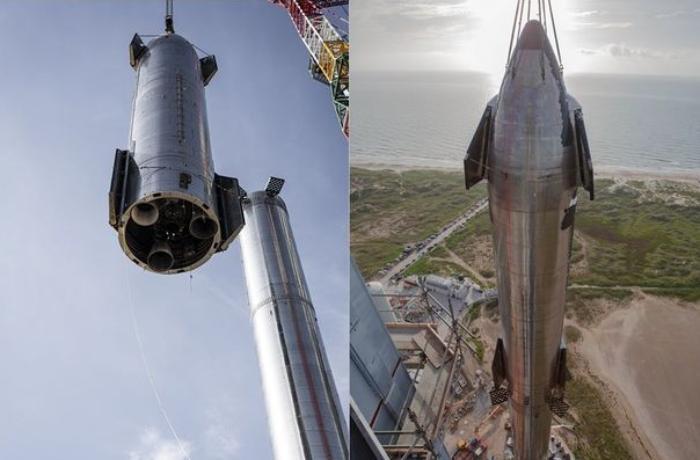 """""""SpaceX"""" şirkəti tarixin ən hündür """"Starship"""" raketini yığıb — FOTO"""
