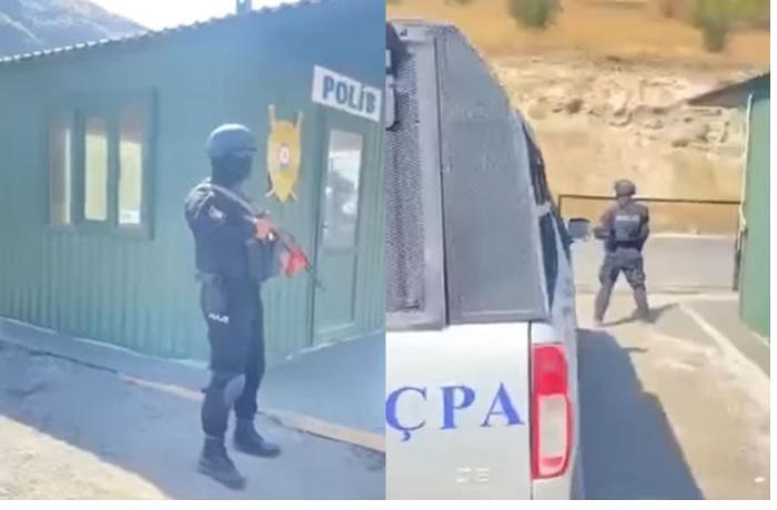 Azərbaycan polisi Gorus-Qafan yolunda — VİDEO