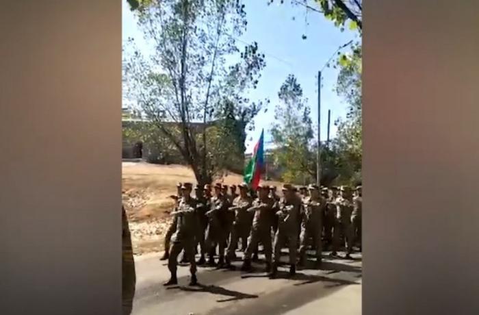 Şuşada hərbi yürüş keçirildi — VİDEO