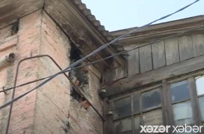 Bakıda məşhur kəşfiyyatçının bir vaxtlar yaşadığı bina qəzalı vəziyyətdədir — VİDEO